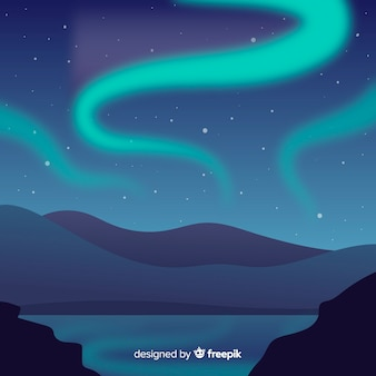 Natural landscape background flat design
