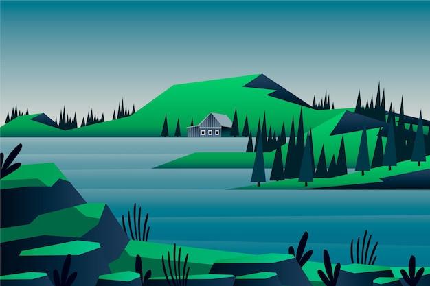 自然の風景-ビデオ会議の背景