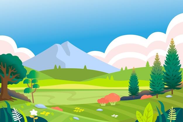 ビデオ会議の自然な風景の背景