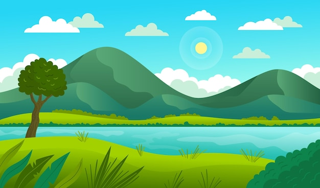 Natural landscape - background for video conferencing