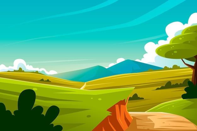 Natural landscape - background for video conferencing