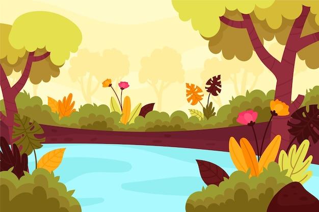 Natural landscape conference background