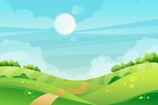 ビデオ会議用の自然の風景の壁紙