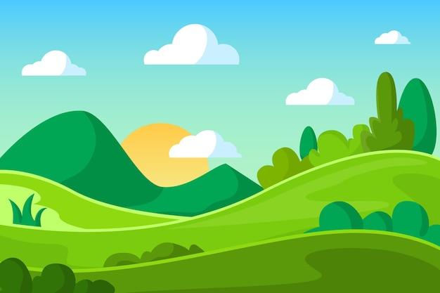 自然の風景の壁紙スタイル