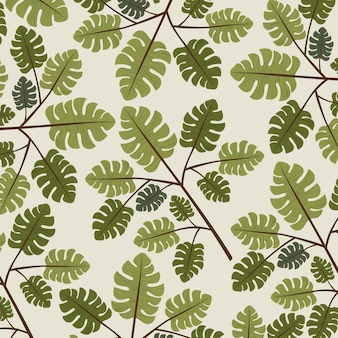 Natural leafs pattern background