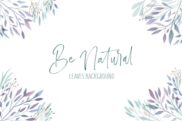 Natural leaves background