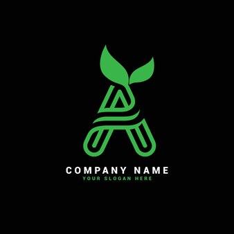 A natural letter logo , a letter logo with leaves,eco,botanical
