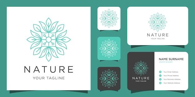자연스러운 로고와 명함 디자인 영감