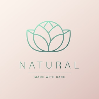 Natural logo design for branding and corporate identity
