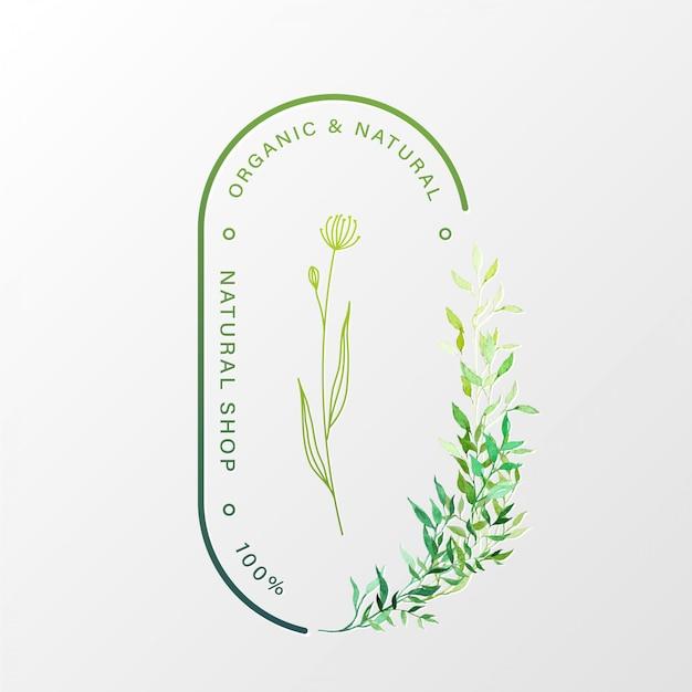 브랜딩 및 기업 정체성을위한 자연스러운 로고 디자인