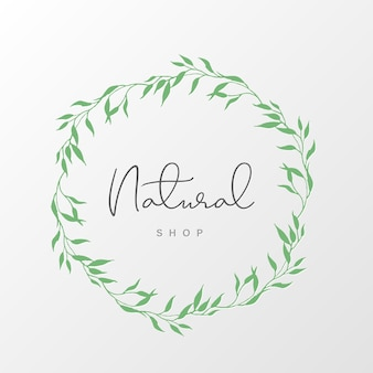 Natural logo design template for branding, corporate identity, packaging and business card.