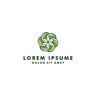 Natural logo design vector template