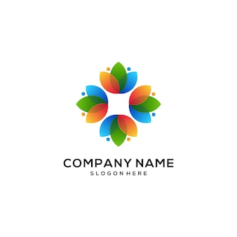 Natural logo icon colorful