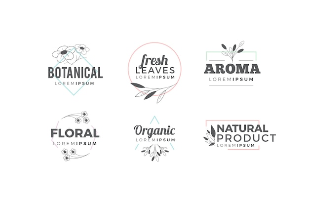 Natural logo pack in minimal style