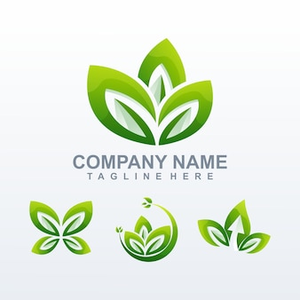 Natural logo vector, template, illustration