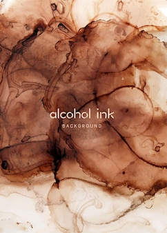 Natural luxury abstract fluid art painting in alcohol ink technique. art for design project as background for invitation or greeting cards, flyer, poster, presentation, banner.