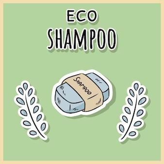 Natural material eco shampoo