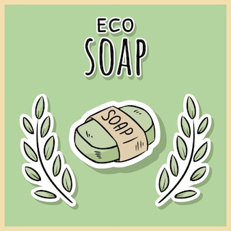 Natural material eco soap.