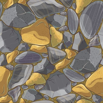 Natural minerals seamless mosaic pattern