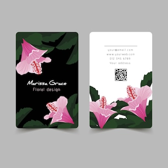 Natural motifs for business card design