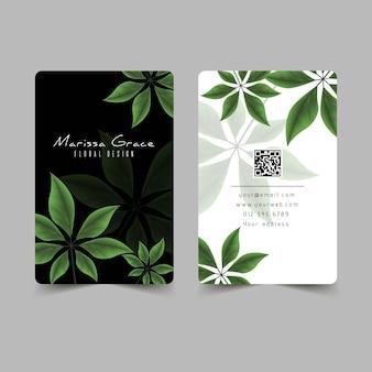 Натуральные мотивы для шаблона визитной карточки