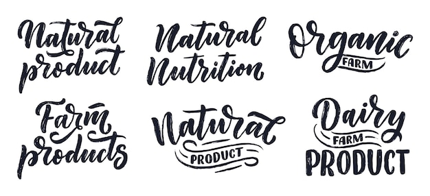 Natural nutrition lettering