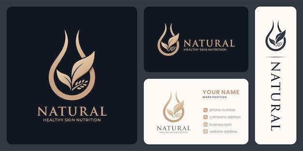 유기농 제품이나 화장품을 위한 천연 oli 로고 디자인.