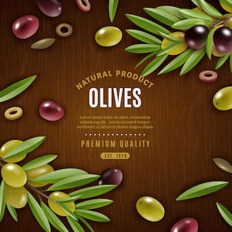 Natural olives background