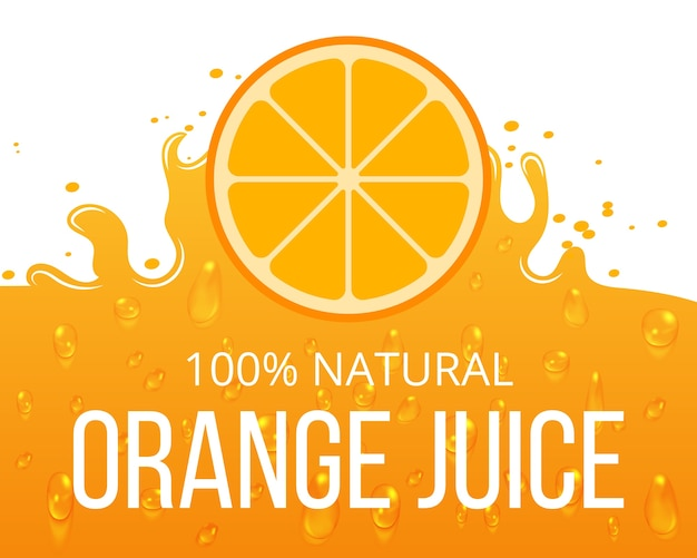 Natural orange juice label template