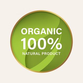 Natural and organic label and vegan banner.