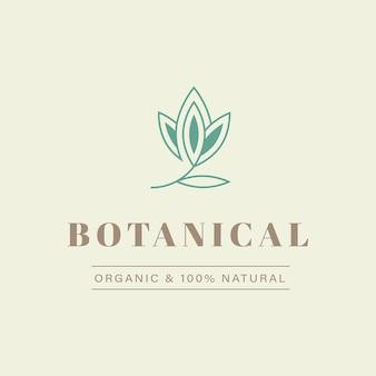 Logo design naturale e organico per il marchio e l'identità aziendale
