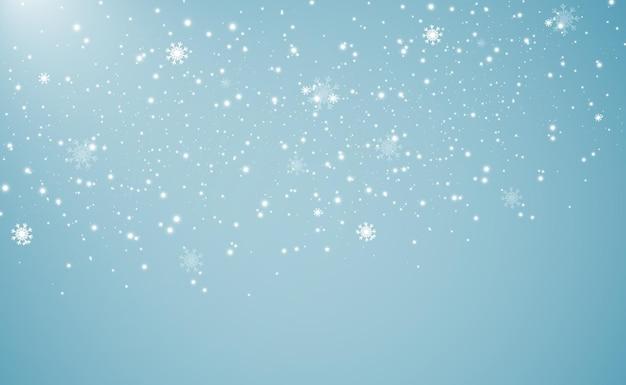 降雪や吹雪の背景の自然現象