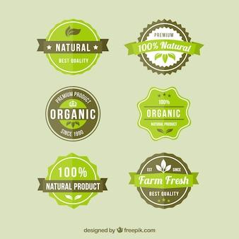 Natural product badges
