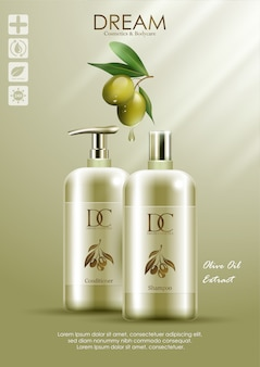 Natural product conditioner and shampoo with olive oil