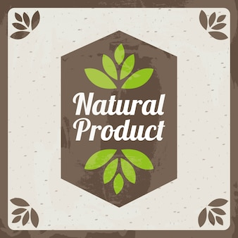 Natural product design over beige    background vector illustration