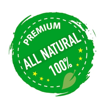 Natural product stamp green colored