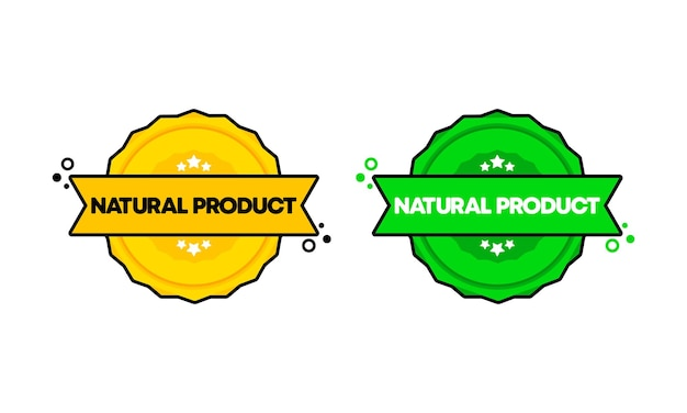 Natural product stamp. vector. natural product badge icon. certified badge logo. stamp template. label, sticker, icons. vector eps 10. isolated on white background.