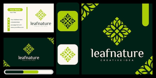 Natural products logo design vector template ,beautiful leaf icon , nature logo design template with leaf concept abstract green leaf symbol for nature style company, beauty with natural concept