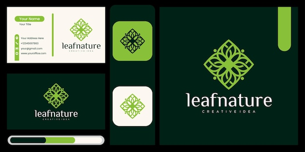 Natural products logo design vector template ,beautiful leaf icon , nature logo logo design template with leaf concept abstract green leaf symbol for nature style company, beauty with natural concept