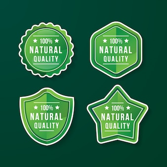 자연 품질 배지