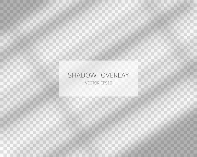 透明な背景に分離されたウィンドウからの自然な影