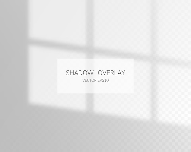 Natural shadows from window isolated on transparent background.