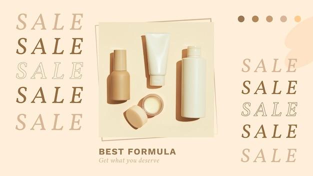 Modello di vendita di prodotti per la cura della pelle naturale vettore terra tono