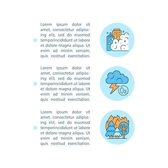 텍스트와 자연 소스 개념 라인 아이콘