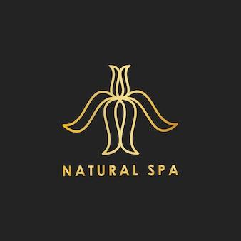 Natural spa design logo vector
