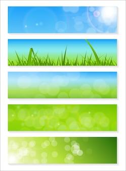 Природный солнечный баннер backgroundc векторные иллюстрации eps10