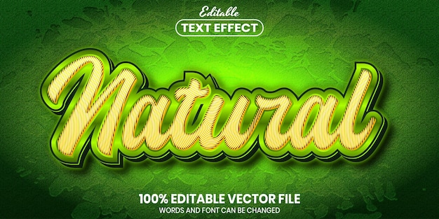 Natural text, font style editable text effect