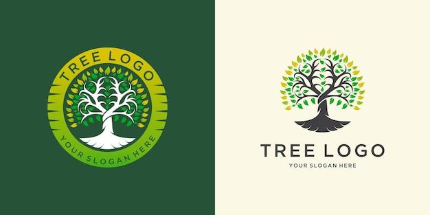 Natural tree logo template