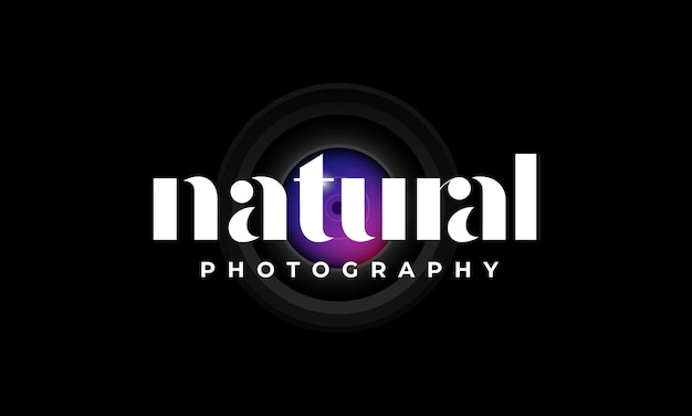 Natural typography logo template