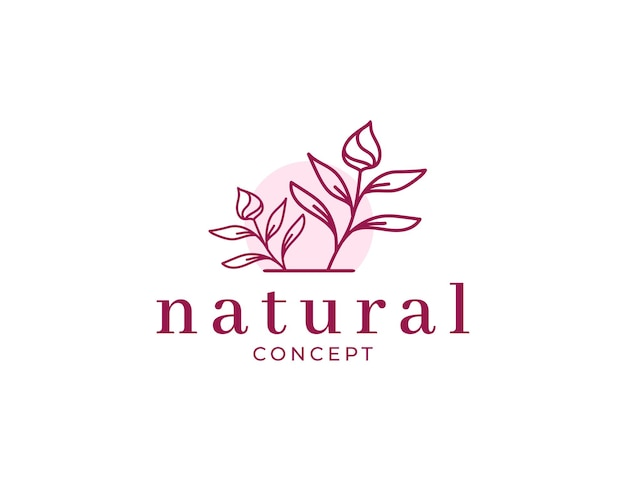Шаблон дизайна логотипа натуральный старинный цветок